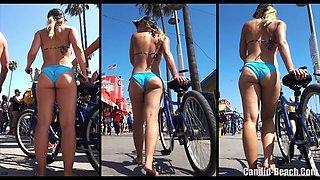 Big Sexy Ass Thong Latina bikini Beach Voyeur HD Video Spy