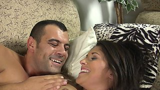 Salma's flamboyant lover will spoon her on the bed and make her happy