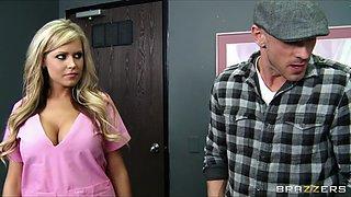 Brazzers - HOT blond nurse Darcy tyler gets her patient off