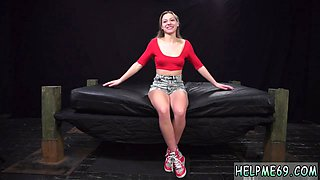 Rough wrestling and blue dress tied up Poor Callie Calypso