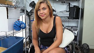 Luscious Chick Kimberlee Gets Fondled By Boss