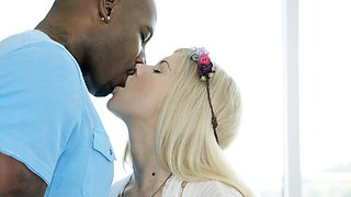 BLACKED Blonde Addison Belgium Squirts on Huge Black Dick