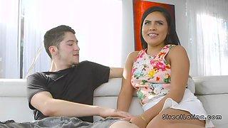 hot latina milf sucking and pounding