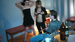 Just a small student party getting into passionate sex