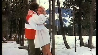 Incredible extreme sex session with a hot blondie on the snow