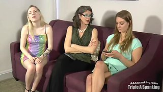 Sassy sisters spanked