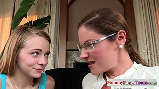 Classy spex stepmom facesitting in taboo ffm