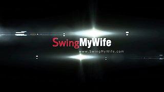 Cute Blonde Wife Tries Swinging