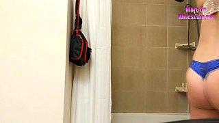 Wife naked bathroom hidden cam