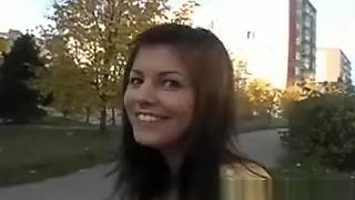 Beautiful euro chick gets fucked and swallows sperm in