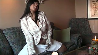Hot Indian milf with huge natural titties flashing