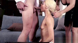 Taboo couple punish cocksucking blonde teen