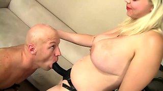 Femdom hardcore fuck anal sex big strapon