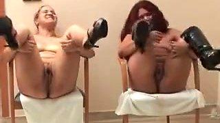 Nasty Horny Sluts Got Spanked Badly