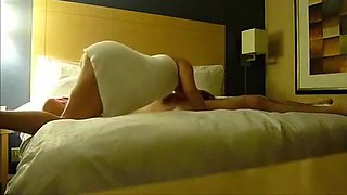 Hot oral sex in 69 with sexy slut in towel