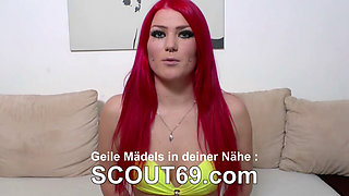 German Big Tit Teen in Perfect Dirty-Talk and Handjob