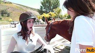 Lesbian riding school scene3