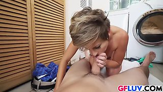 bent over mickey blue with pierced nipples