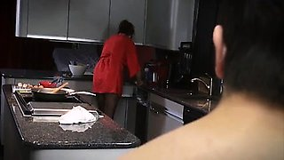 Son have breakfast from mom - Watch Part 2 on my website