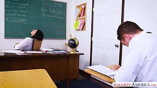reckless teacher was fucked in the classroom