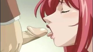 horny redhead big tits anime milf fucked on bathroom