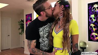Horny stud Bryan slams teens tight pussy