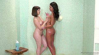 Nothing pleases Jenna Sativa and her friends like masturbating together