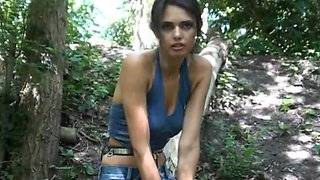 Outdoor girl steel electro slave