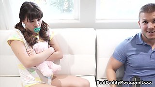 Alison Rey Caught In The Act And Punished With A Threesome - BadDaddyPOV