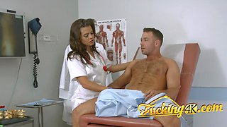 Lovely nurse pounded by patient