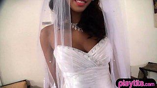 Wedding day fuck with my beautiful latina teen bride