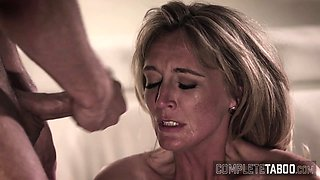 Milf gets taboo facial