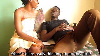 Real african amateur couple fucks and flirts
