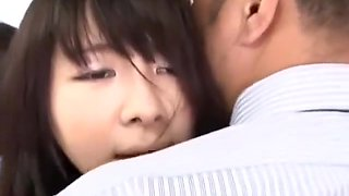 Schoolgirl Giving Handjob For Business Man Fucked While Standing On The Bus