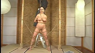 Suspended Jewell Marceau gets whipped and toyed