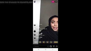 Hot hijab teen bitch hiba qa live on instagram