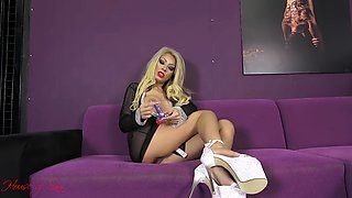 blonde mistress instructs you to masturbate