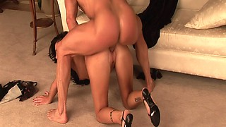 High heels slut on her hands and knees and pounded from behind
