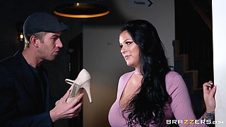 Chesty Anissa Jolie has her tits creamed after getting nailed