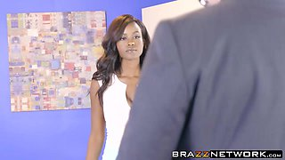 Perfect ass ebony Jezabel Vessir fucked by dirty employee