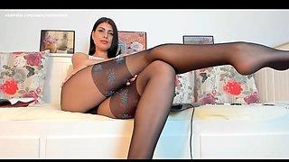 Wm 595 black pantyhose legs &amp feet