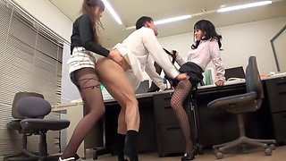 Fabulous Japanese chick in Horny HD, Threesome JAV video