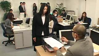 Japanese office abused