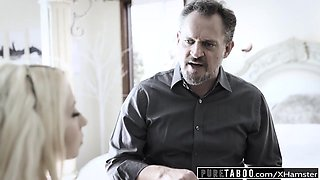 PURE TABOO Angry Dad Spanks and Creampies bratty Daughter