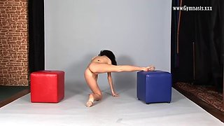 flexy violeta laczkowa shows perky tits and pussy in acrobatic positions