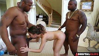 Black guys are happy to make a brunette chick's dream come true