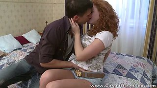 Redhead curly haired hottie from the park loves hook up quickie