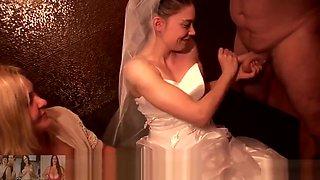 bitch bride on gang-bang