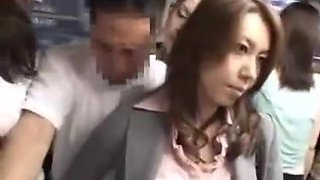 Open Japanese cock in the bus