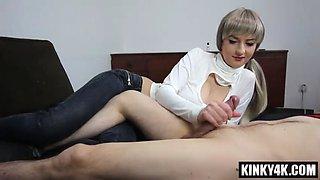 Hot sister seduce and orgasm